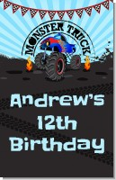 Monster Truck - Personalized Birthday Party Wall Art