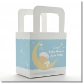 Over The Moon Boy - Personalized Baby Shower Favor Boxes