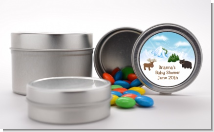Moose and Bear - Custom Baby Shower Favor Tins
