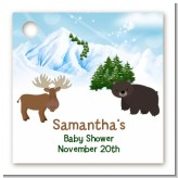 Moose and Bear - Personalized Baby Shower Card Stock Favor Tags