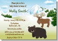 Moose and Bear - Baby Shower Invitations thumbnail