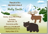Moose and Bear - Baby Shower Invitations