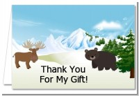 Moose and Bear - Baby Shower Thank You Cards