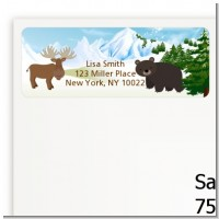 Moose and Bear - Baby Shower Return Address Labels