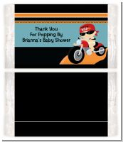 Motorcycle Baby - Personalized Popcorn Wrapper Baby Shower Favors