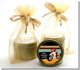 Motorcycle Baby - Baby Shower Gold Tin Candle Favors
