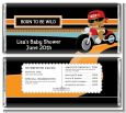 Motorcycle Baby - Personalized Baby Shower Candy Bar Wrappers thumbnail