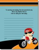 Motorcycle Baby - Baby Shower Notes of Advice