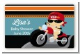 Motorcycle Baby - Baby Shower Landscape Sticker/Labels thumbnail