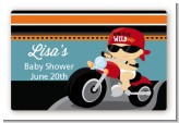 Motorcycle Baby - Baby Shower Landscape Sticker/Labels