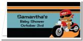 Motorcycle African American Baby Boy - Personalized Baby Shower Place Cards