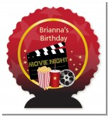 Movie Night - Personalized Birthday Party Centerpiece Stand
