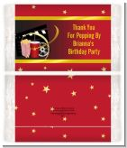 Movie Night - Personalized Popcorn Wrapper Birthday Party Favors