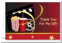 Movie Night - Birthday Party Thank You Cards