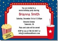 Movie Theater - Birthday Party Invitations