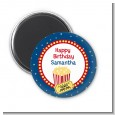 Movie Theater - Personalized Birthday Party Magnet Favors thumbnail