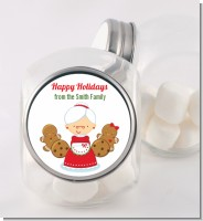 Mrs. Santa - Personalized Christmas Candy Jar