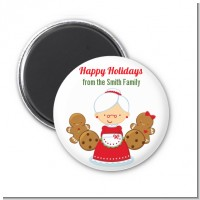 Mrs. Santa - Personalized Christmas Magnet Favors