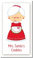 Mrs. Santa - Custom Rectangle Christmas Sticker/Labels