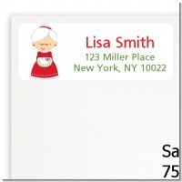 Mrs. Santa - Christmas Return Address Labels