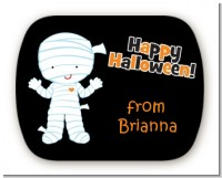 Mummy Costume - Personalized Halloween Rounded Corner Stickers