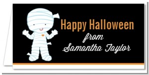 Mummy Costume - Personalized Halloween Place Cards