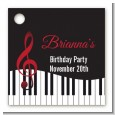 Musical Notes Black and White - Personalized Birthday Party Card Stock Favor Tags thumbnail