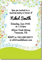 Musical Notes Colorful - Birthday Party Invitations