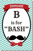 Mustache Bash - Personalized Birthday Party Wall Art