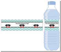 Mustache Bash - Personalized Birthday Party Water Bottle Labels