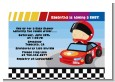 Nascar Inspired Racing - Baby Shower Petite Invitations thumbnail