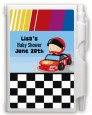 Nascar Inspired Racing - Baby Shower Personalized Notebook Favor thumbnail