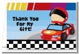 Nascar Inspired Racing - Baby Shower Thank You Cards thumbnail