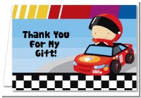 Nascar Inspired Racing - Baby Shower Thank You Cards