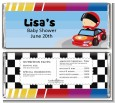 Nascar Inspired Racing - Personalized Baby Shower Candy Bar Wrappers thumbnail