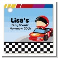 Nascar Inspired Racing - Personalized Baby Shower Card Stock Favor Tags thumbnail