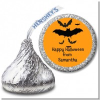 Neon Orange Halloween Theme - Hershey Kiss Halloween Sticker Labels