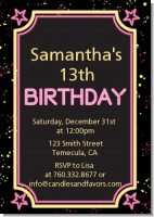 Neon Pink Glow In The Dark - Birthday Party Invitations