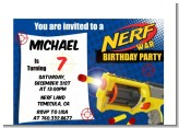 Nerf Gun - Birthday Party Petite Invitations