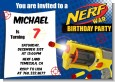 Nerf Gun - Birthday Party Invitations thumbnail