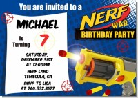Nerf Gun - Birthday Party Invitations
