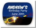 Nerf Gun - Personalized Birthday Party Rounded Corner Stickers thumbnail