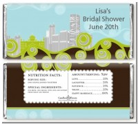 New Jersey Skyline - Personalized Bridal Shower Candy Bar Wrappers