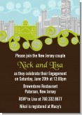 New Jersey Skyline - Bridal Shower Invitations
