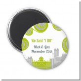 New Jersey Skyline - Personalized Bridal Shower Magnet Favors