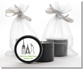 New York City - Bridal Shower Black Candle Tin Favors