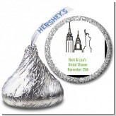 New York City - Hershey Kiss Bridal Shower Sticker Labels