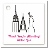 New York Skyline - Personalized Bridal Shower Card Stock Favor Tags
