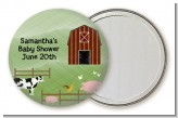 Nursery Rhyme - Old McDonald - Personalized Baby Shower Pocket Mirror Favors