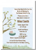 Nursery Rhyme - Rock a Bye Baby - Baby Shower Petite Invitations